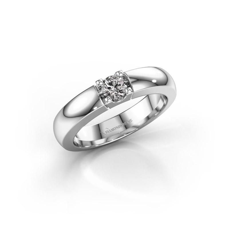 Verlovingsring Rianne 1 925 zilver diamant 0.25 crt