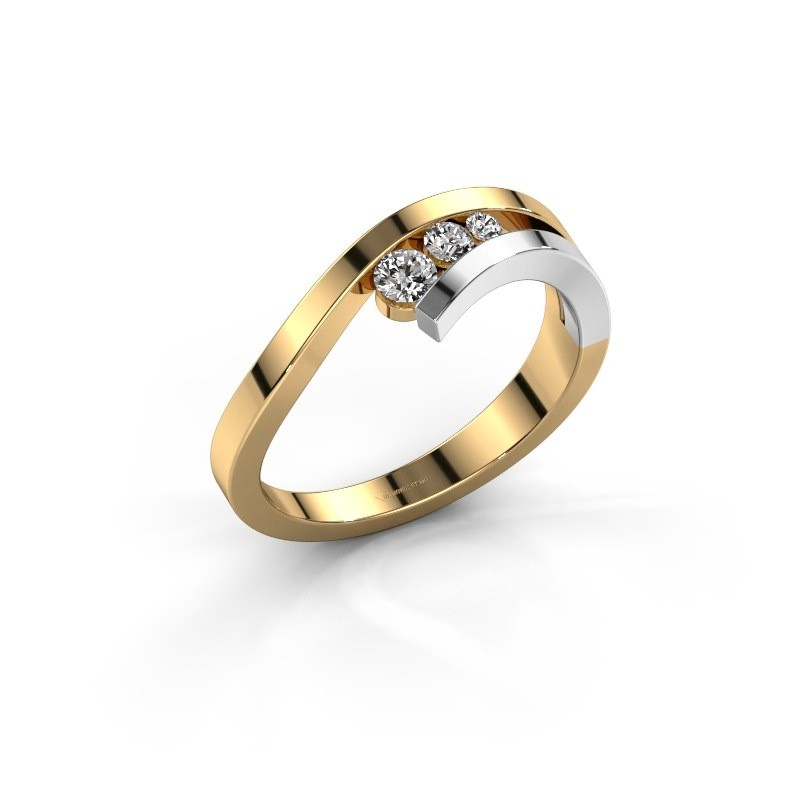 Ring Evalyn 2 585 goud zirkonia 2.8 mm