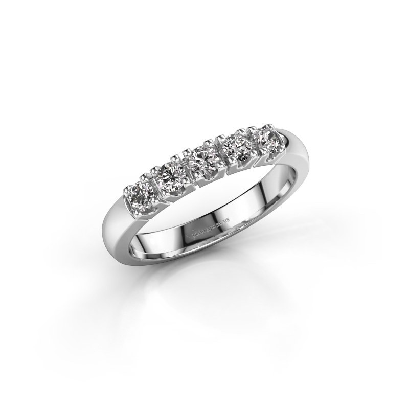 Engagement ring Rianne 5 585 white gold lab-grown diamond 0.40 crt