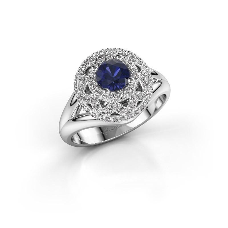 Ring Leonora 925 silver sapphire 5 mm