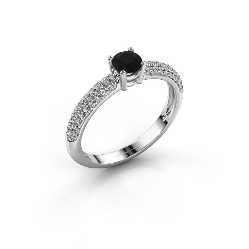 Verlobungsring Marjan 950 Platin Schwarz Diamant 0.722 crt