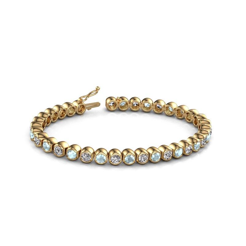 Tennisarmband Bianca 4 mm 375 goud aquamarijn 4 mm