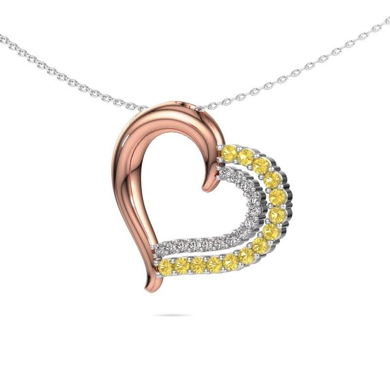 Necklace Kandace 585 rose gold yellow sapphire 1.9 mm