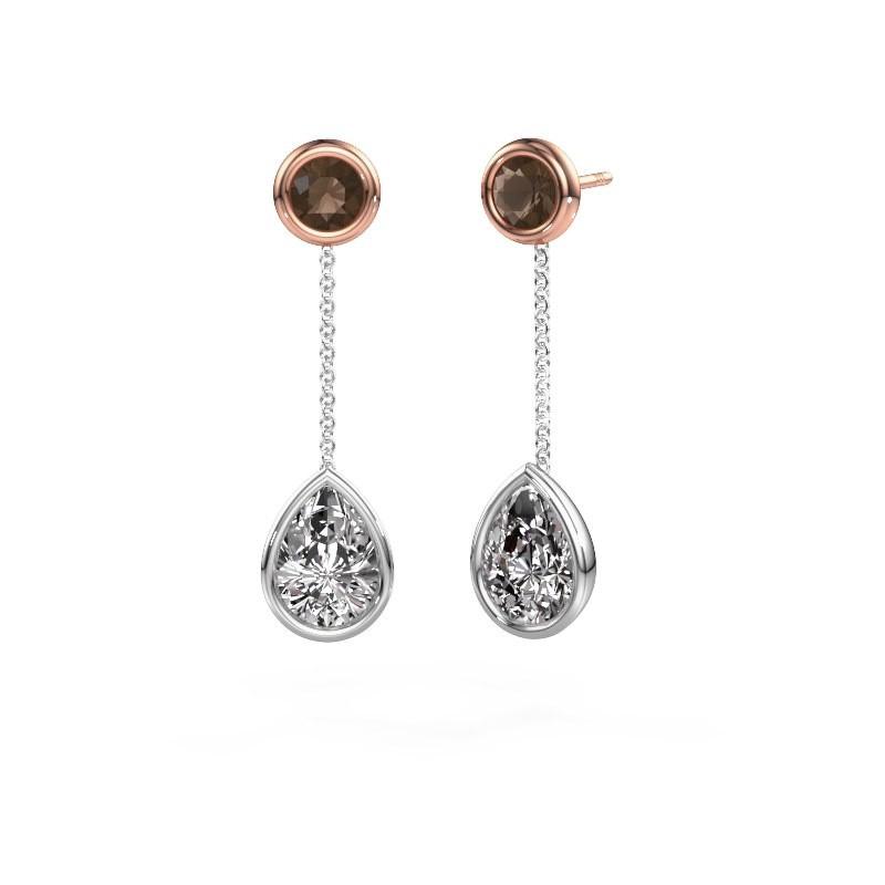 Oorhangers Ladawn 585 witgoud diamant 2.10 crt