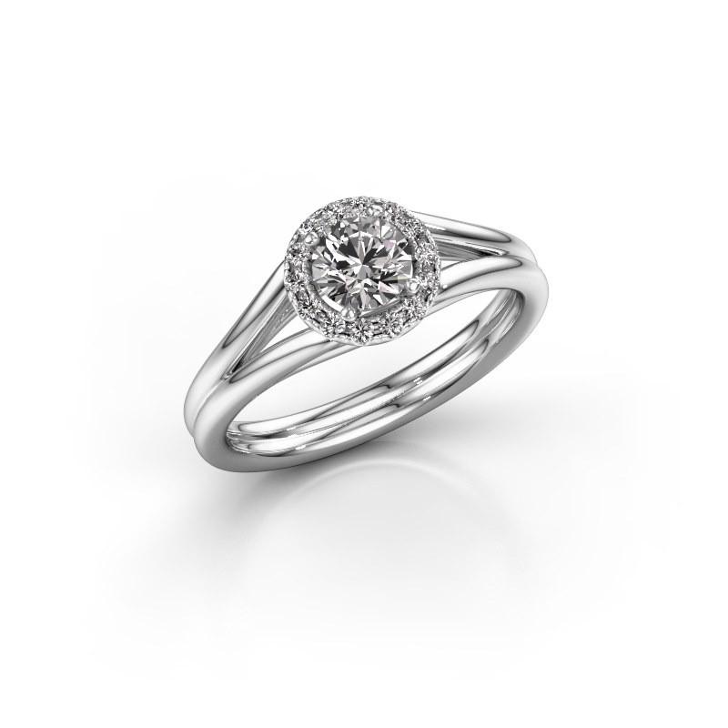 Verlovingsring Verla 1 585 witgoud diamant 0.505 crt