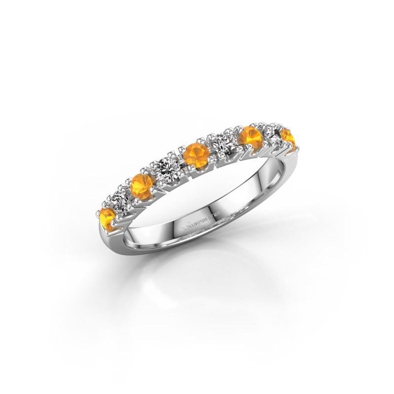 Engagement ring Rianne 9 950 platinum citrin 2.4 mm