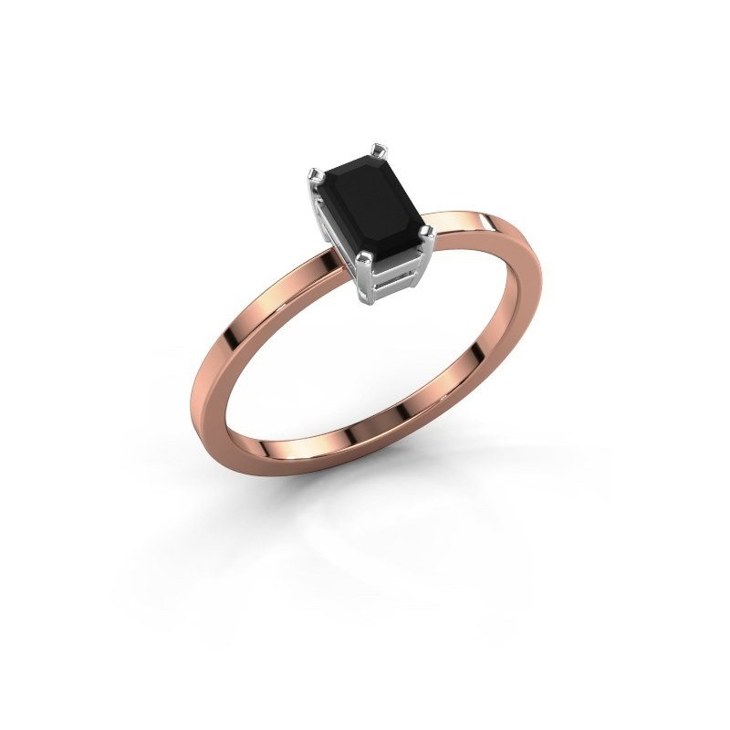 Verlobungsring Denita 1 585 Roségold Schwarz Diamant 0.84 crt