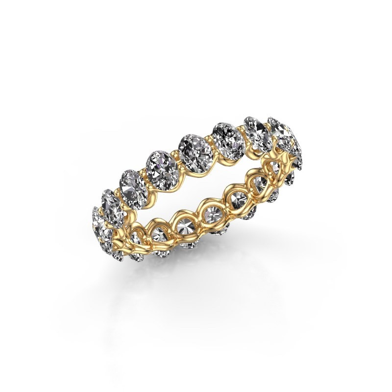 Ring Kirsten OVL 4x3 375 goud lab-grown diamant 2.85 crt