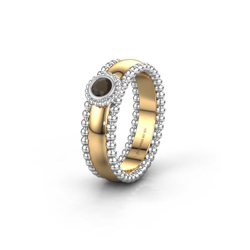 Trouwring WH3053L16A 585 goud rookkwarts ±6x1.7 mm