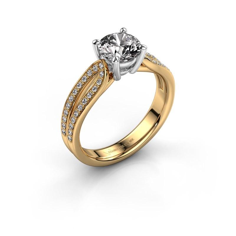 Bague de fiançailles Antonia 2 585 or jaune diamant 1.308 crt