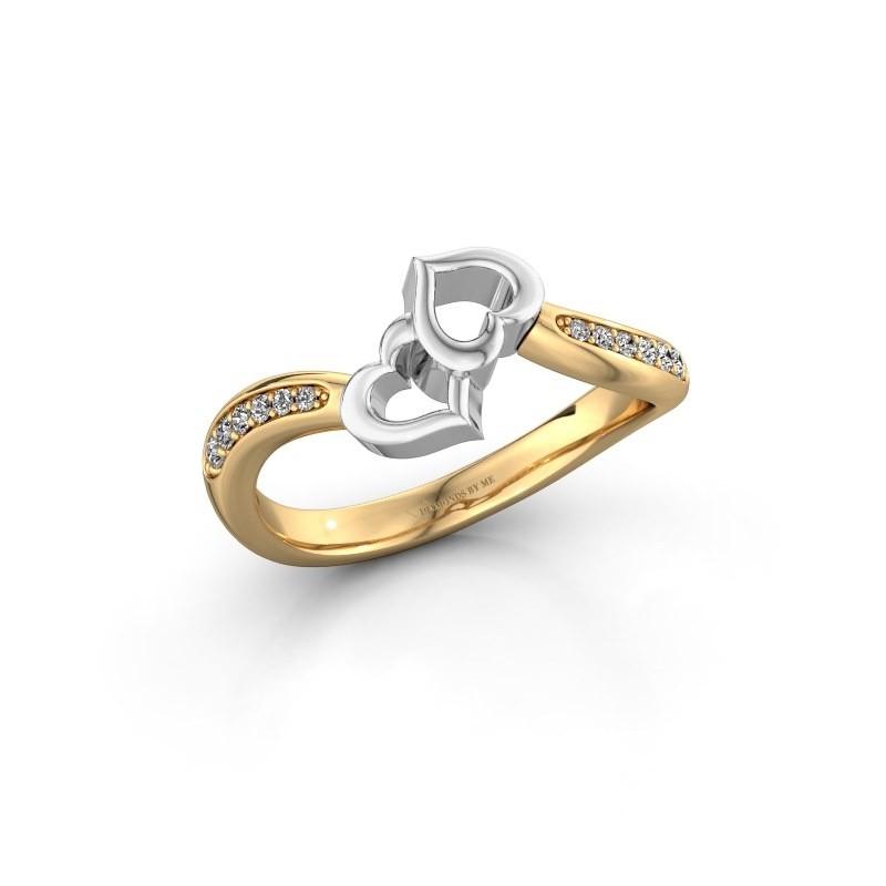 Ring Xaviera 585 goud lab-grown diamant 0.112 crt