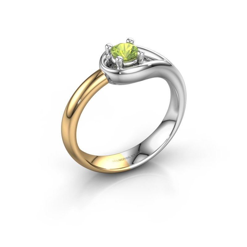 Ring Fabienne 585 white gold peridot 4 mm
