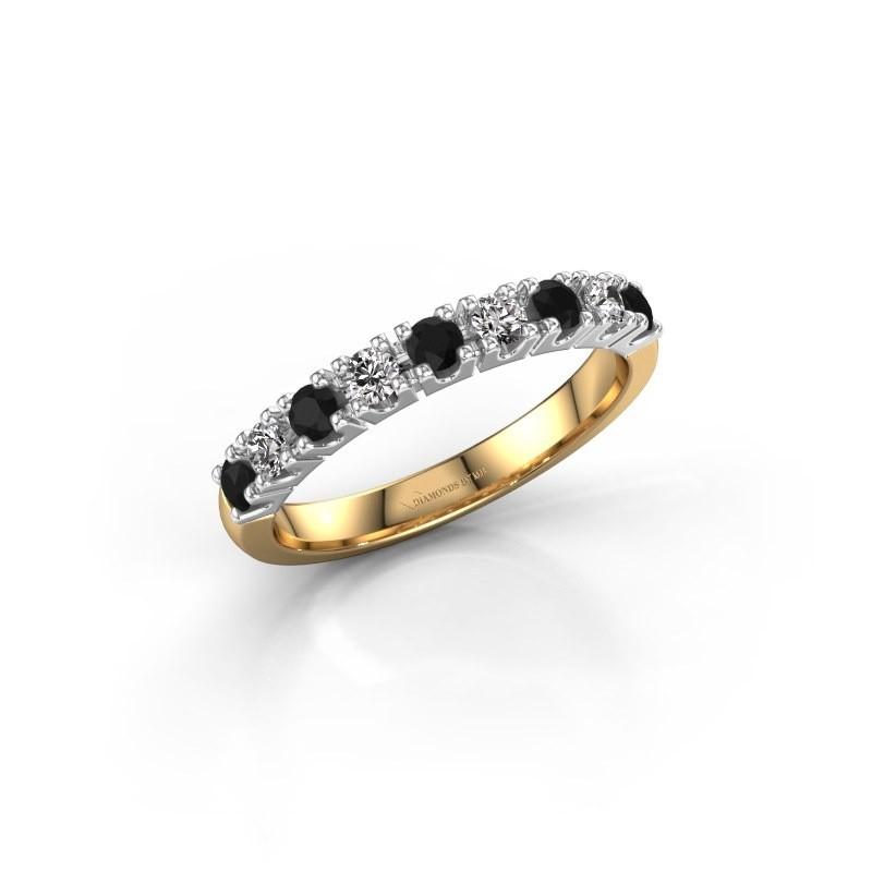Engagement ring Rianne 9 585 gold black diamond 0.55 crt