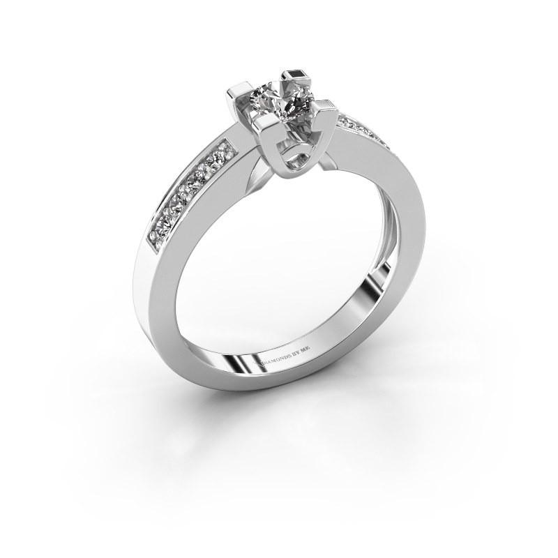 Verlovingsring Nina 2 925 zilver lab-grown diamant 0.460 crt