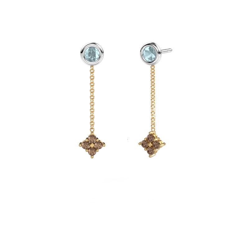 Oorhangers Ardith 585 goud bruine diamant 0.24 crt