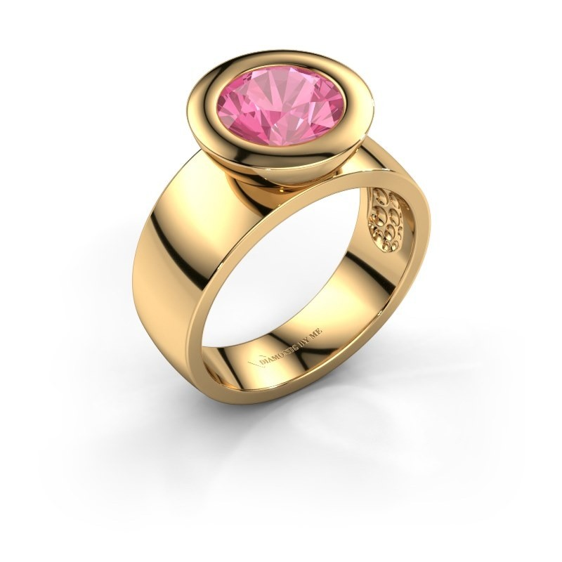 Ring Maxime 585 goud roze saffier 8 mm