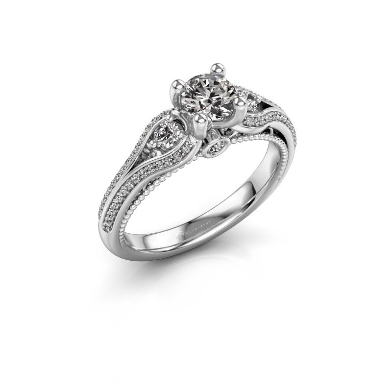 Verlovingsring Nikita 585 witgoud diamant 0.82 crt