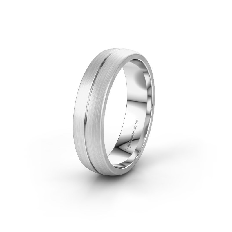 Wedding ring WH0162M25A 375 white gold ±5,5x1.7 mm