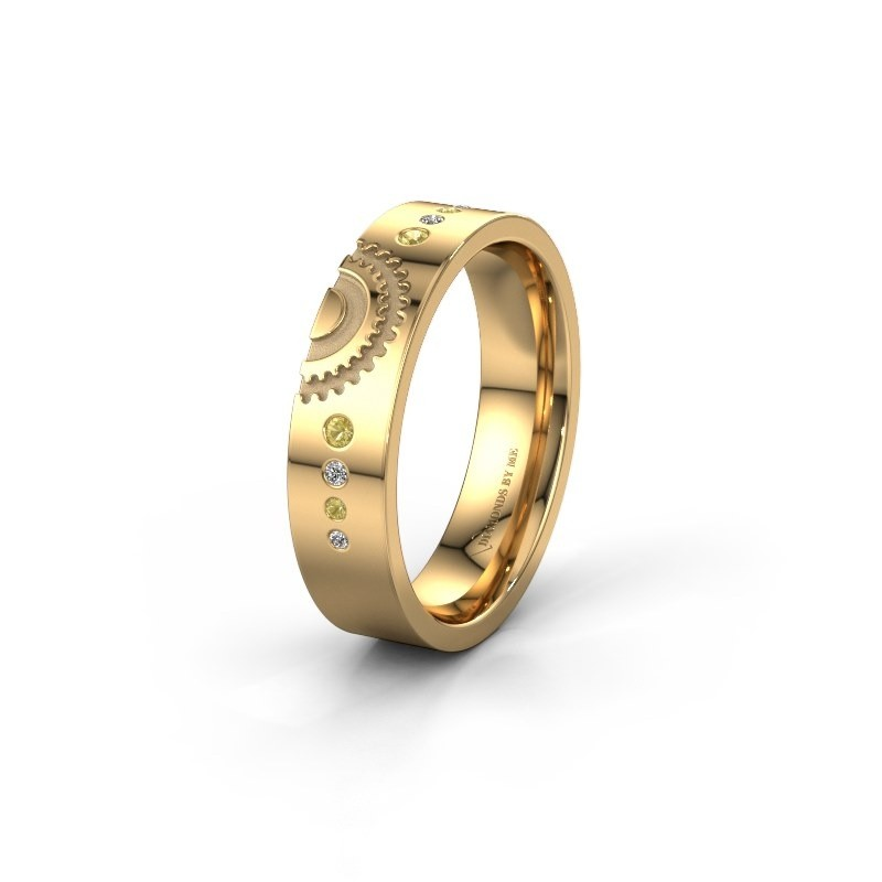 Trouwring WH2116L25A 585 goud gele saffier ±5x1.7 mm