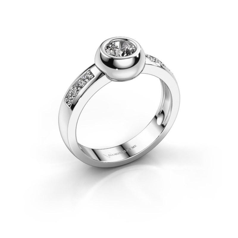 Ring Charlotte Round 585 witgoud zirkonia 4.7 mm