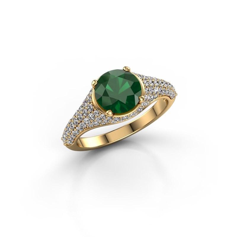 Verlovingsring Lovella 375 goud smaragd 7 mm