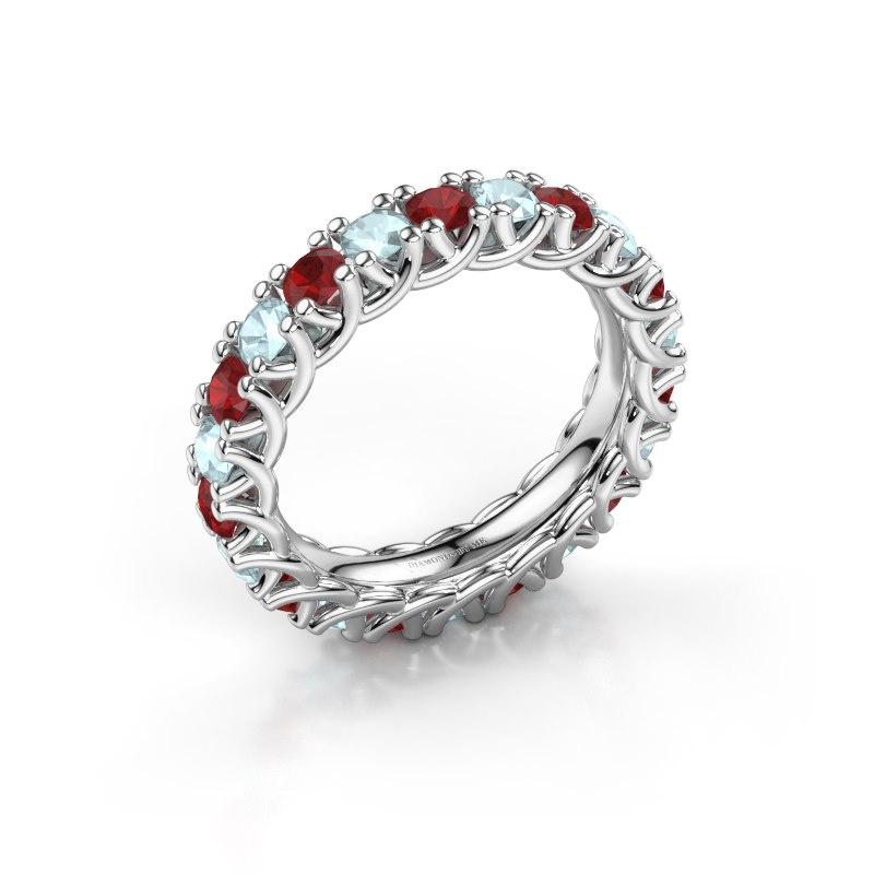 Ring Fenna 925 zilver robijn 3 mm