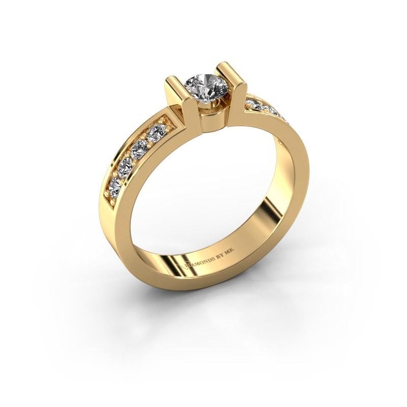 Verlovingsring Sofie 2 375 goud diamant 0.30 crt