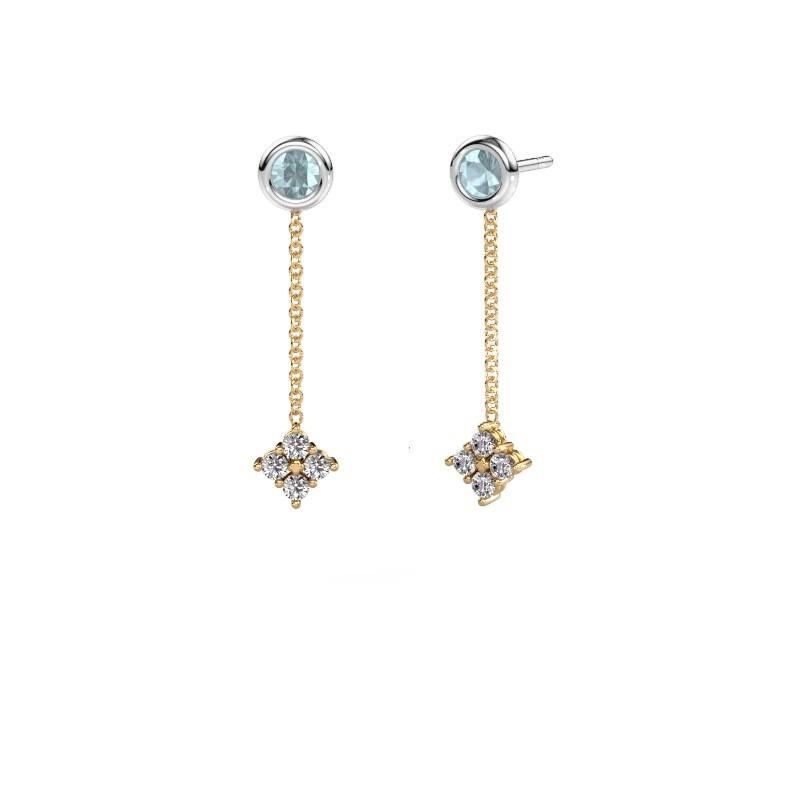 Drop earrings Ardith 585 gold diamond 0.24 crt