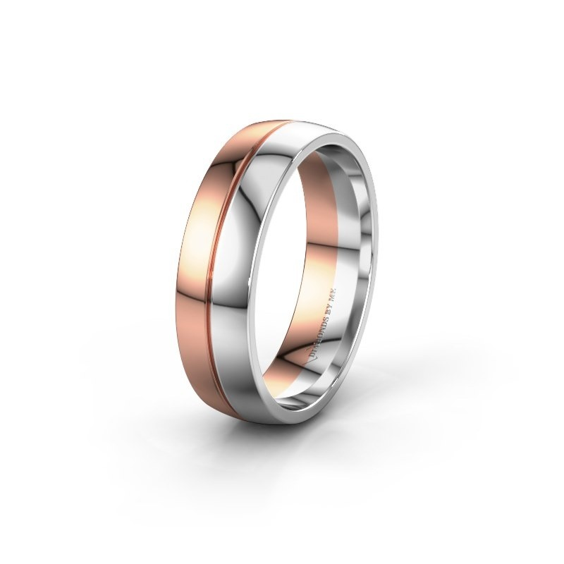 Wedding ring WH0200M26AP 585 rose gold ±0.24x0.07 in
