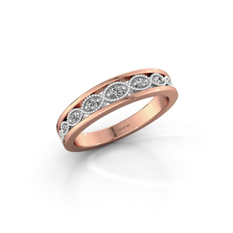 Stackable ring Laine 585 rose gold diamond 0.125 crt