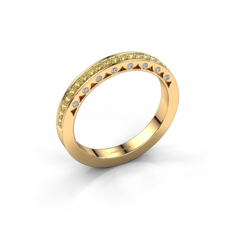 Ring Yasmine 585 goud gele saffier 1.2 mm