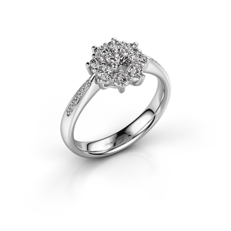 Verlobungsring Carolyn 2 950 Platin Diamant 0.25 crt