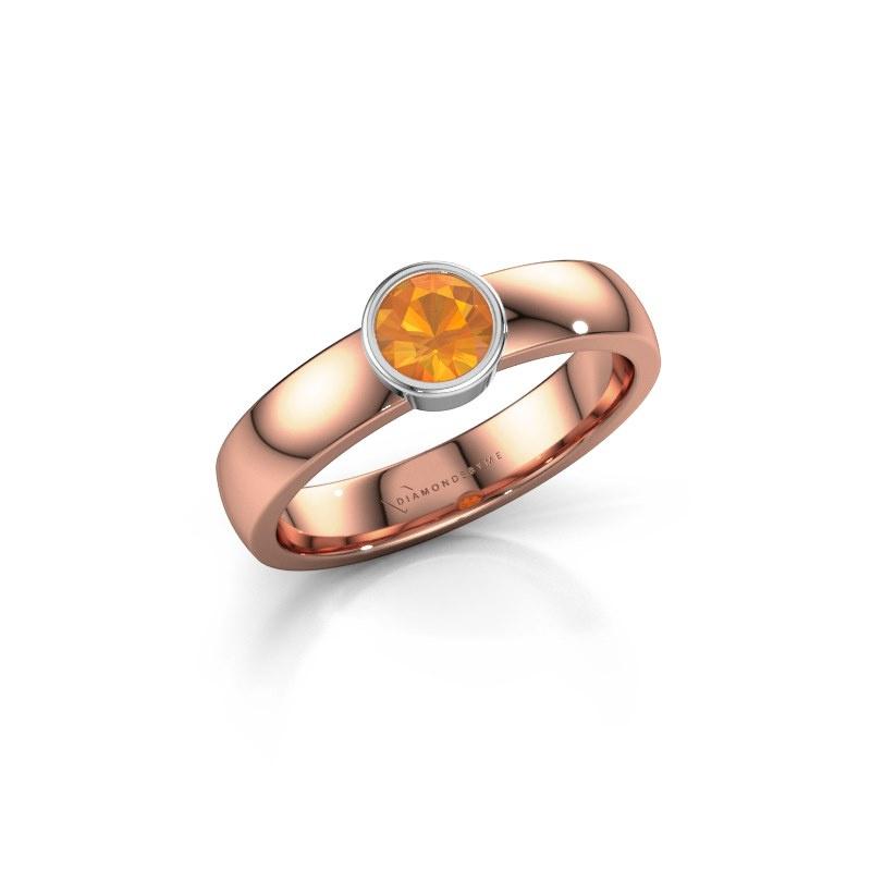 Ring Ise 1 585 rosé goud citrien 4.7 mm