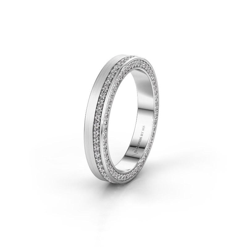 Trouwring WH2214L15BM 585 witgoud diamant 0.55 crt ±5x2 mm