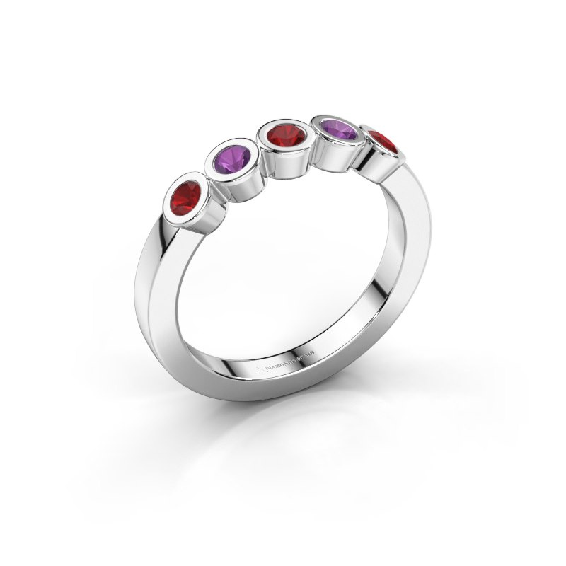 Ring Nova 925 silver ruby 3 mm