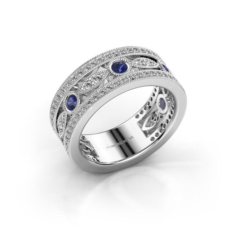 Ring Jessica 925 zilver saffier 2.5 mm