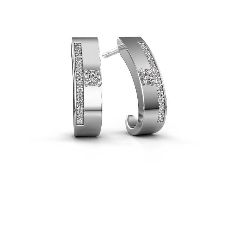 Oorbellen Vick1 585 witgoud diamant 0.230 crt