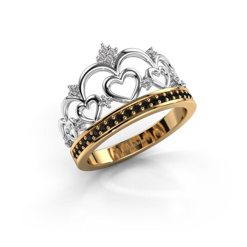 Ring Kroon 2 585 Gold Schwarz Diamant 0.269 crt