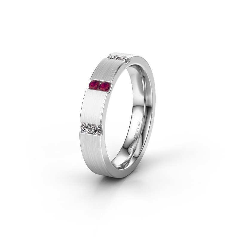Wedding ring WH2133L14BM 950 platinum rhodolite ±4x2.2 mm
