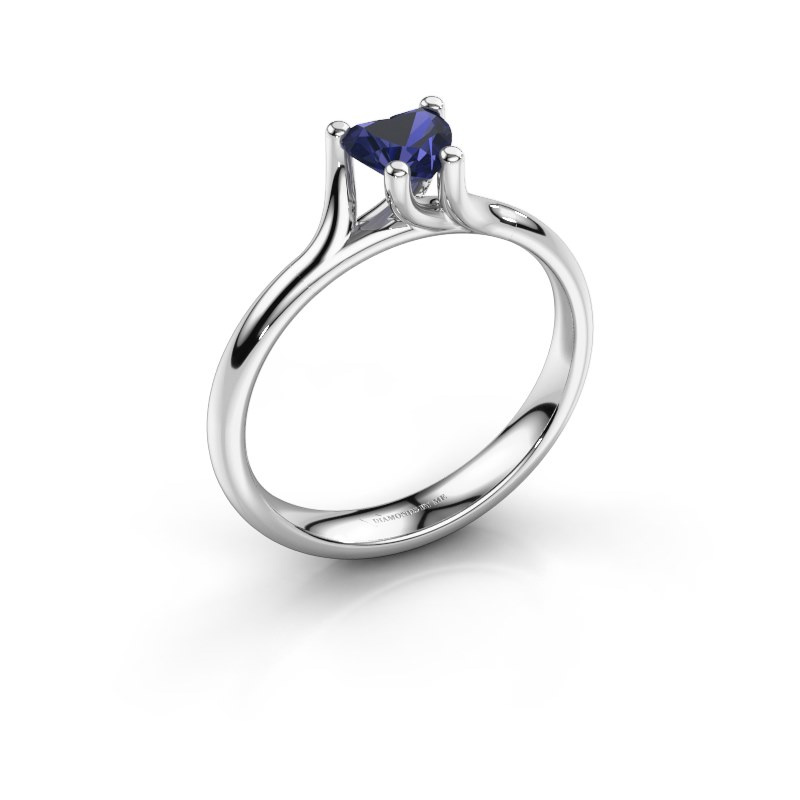 Engagement ring Dewi Heart 585 white gold sapphire 5 mm
