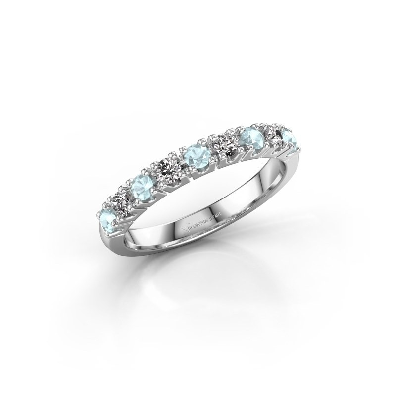 Engagement ring Rianne 9 950 platinum aquamarine 2.4 mm