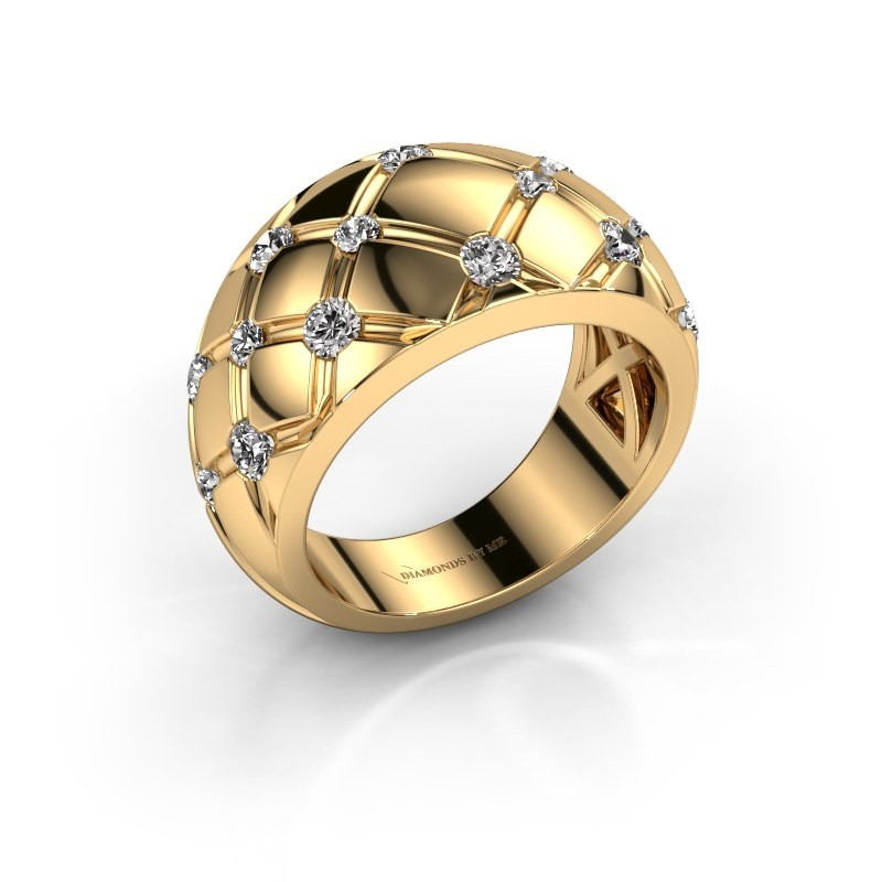 Ring Imke 375 Gold Zirkonia 2.5 mm