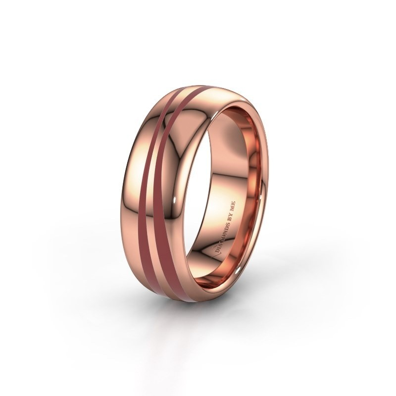 Huwelijksring WH2226M36BP 585 rosé goud ±7x2 mm