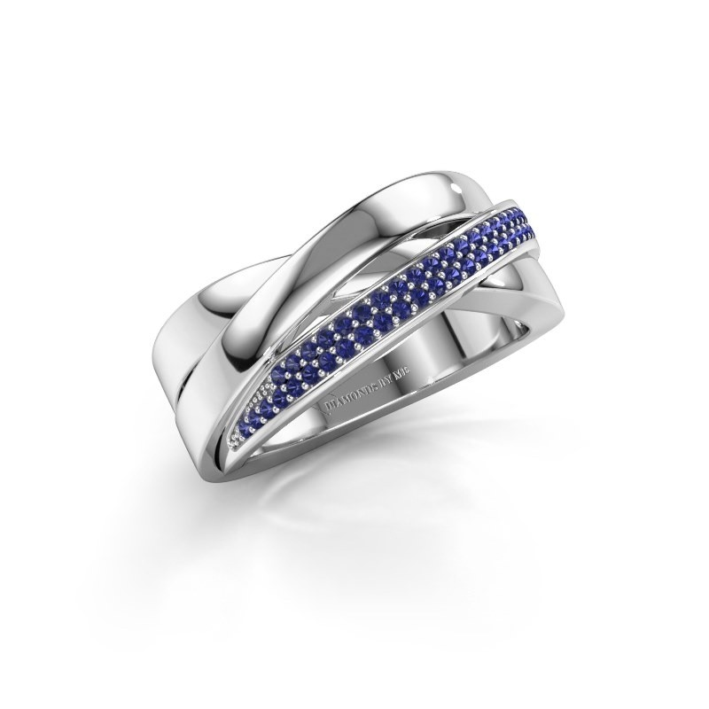 Ring Katherina 950 Platin Saphir 1 mm