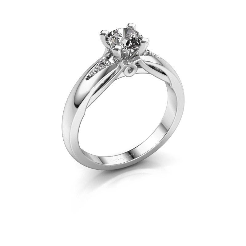 Engagement ring Ize 585 white gold diamond 0.646 crt