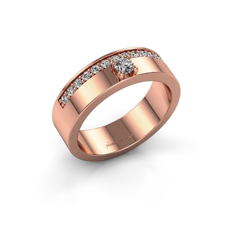 Ring Vicki 375 rosé goud zirkonia 3 mm