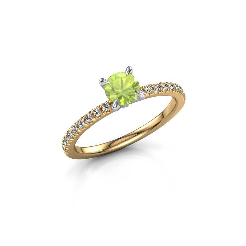 Verlobungsring Crystal rnd 2 585 Gold Peridot 5 mm