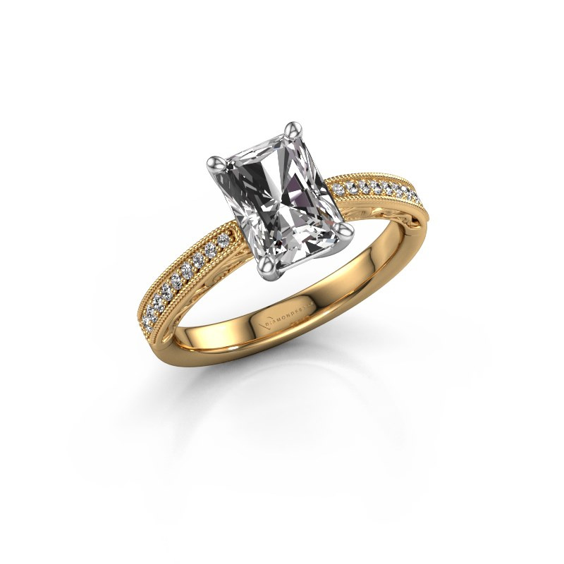 Verlovingsring Shonta RAD 585 goud diamant 2.13 crt