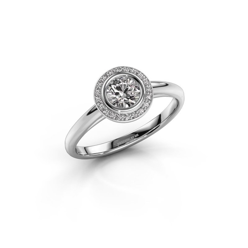 Promise ring Noud 1 RND 925 silver lab grown diamond 0.45 crt