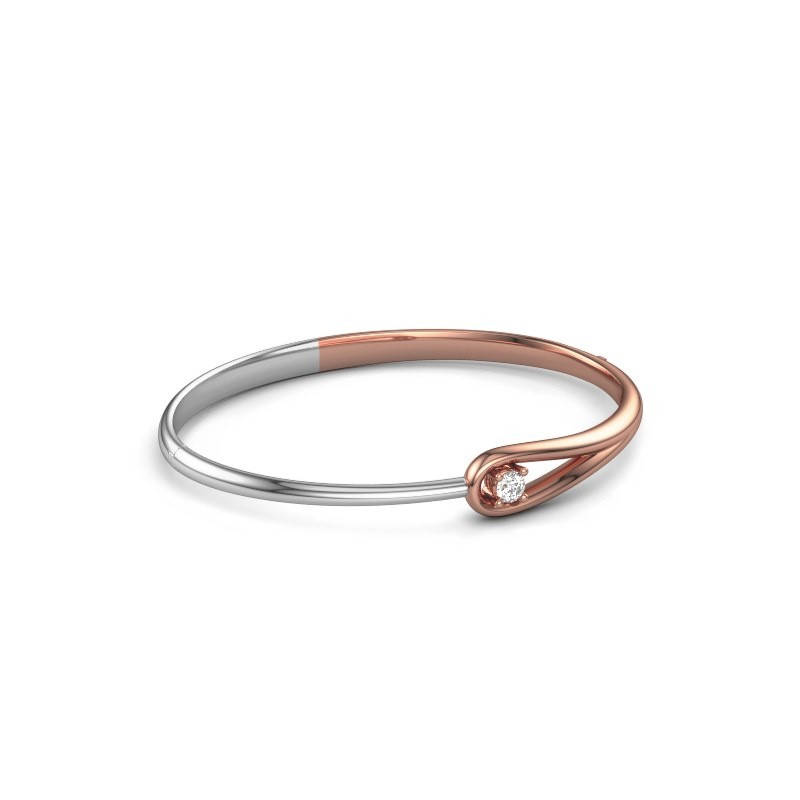 Slavenarmband Zara 585 rosé goud diamant 0.25 crt